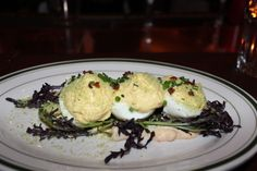 Chef Marcus Samuelson's Deviled Eggs from Red Rooster Harlem.