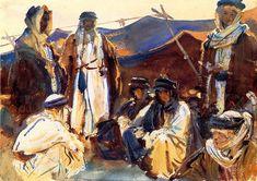 The Athenaeum - Bedouin Camp (John Singer Sargent - ) 1905-1906