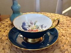 Antique Hammersley Bone China Teacup and Saucer by WrathofRa