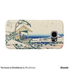 Tea house at Koishikawa Mount Fuji Japanese Woodblock Print  Samsung Galaxy S6 Cases