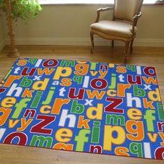 Superb Fashion Kids / Childs Rug Multi coloured Large Alphabet design 2.0m x 3.0m (6'6 x 9'9 approx): Amazon.co.uk: Kitchen & Home