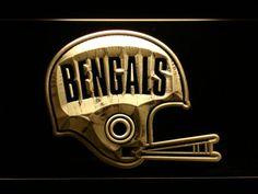 Cincinnati Bengals 1968-1979 Helmet LED Neon Sign - Legacy Edition