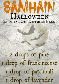 Halloween, pine, frankincense, lavender, patchouli