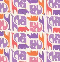 elephants, rhinos, giraffes pattern