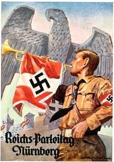 Nazi and children propaganda poster