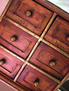 Antique Spice / Apothecary Cabinet.  Something like this for seed storage