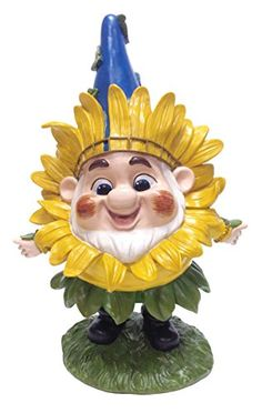 Outdoor Décor-DIG Benny with Sunflower Mask Garden Statue 12 by 825Inch ** Click image to review more details.