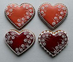 Heart Cookies, Fun Cookies, Cupcake Cookies, Cupcakes, Decorated Cookies, Valentine Cookies, Valentines, Cookies Decorados, Cookie Box