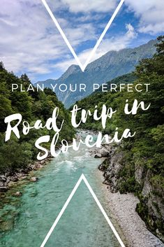 How to plan the perfect road trip in Slovenia. This ultimate Slovenia road trip itinerary takes you through Soca River, Lake Bled, Brda - the wine country, Ljubljana and much more! Road Trip Europe, Europe Travel Tips, Travel Destinations, Europe Train, Iceland Travel, Travel Deals, Travel Hacks, Cool Places To Visit, Places To Travel