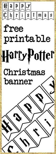 Print yourself a Harry Potter Christmas banner - free printable