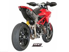 D10-H01 Oval High Mount Exhaust by SC Project Ducati / Hypermotard 939 / 2016 SC-Project is a race tested and race proven Italian exhaust manufacturer. SC-Project uses their MotoGP, Moto3, Moto2 and Superbike racing experience to push the limits and develop the highest level of exhaust performance. SC-Project exhausts are hand made right along side the same exhausts you see on MotoGP bikes and at race tracks around the world. SC-Project is committed to putting race quality performan...