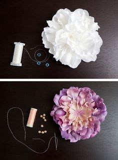 DIY | flower hair piece - Something Turquoise {daily bridal inspiration}