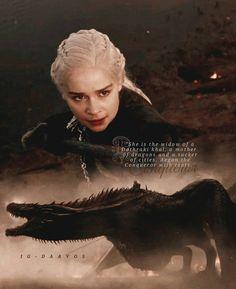 Mother of Dragons, Bride of Fire, Daughter of Death and Slayer of Lies. Game Of Thrones Quotes, Game Of Thrones Art, Got Dragons, Mother Of Dragons, Valar Dohaeris, Valar Morghulis, Sansa Stark, Daenerys Targaryen, Khaleesi