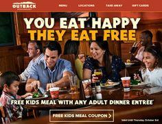 FREE Kids Meal at Outback Steakhouse Printable Coupon