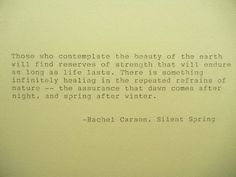 RACHEL CARSON Earth Day Quote Hand Typed Quote by PoetryBoutique, $6.00