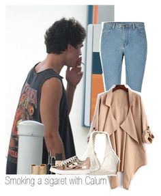 """""""Smoking a sigaret with Calum"""" by thebestofcelebrities ❤ liked on Polyvore featuring Hollister Co., Miss Selfridge, Panacea, NARS Cosmetics, 5sos, calumhood, 5secondsofsummer and 5sosfam"""