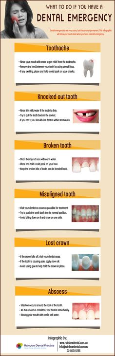 What To Do If You Have A #Dental Emergency #infographic
