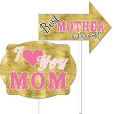 Mother's Day - Photo Booth Props - 2 pack