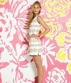Delia Dress in Resort White Truly Petal Lace.