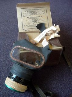 how to make a gas mask out of cardboard