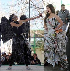 trajes de fantasia con material reciclable faciles de hacer - Buscar con Google
