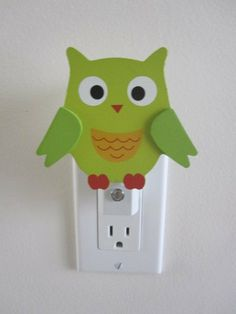 Owl Night Light  Baby room nursery animal sea by cvhdesigns1, $12.00