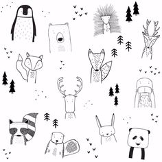 The wild kids apparel doodle art, doodle kids, bullet journal doodles ideas, bullet Doodle Art, Doodle Drawings, Easy Drawings, Doodle Kids, Funny Drawings, Simple Animal Drawings, Tier Doodles, Animal Doodles, Bullet Journal Inspiration