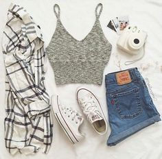 Outfit, fashion, and style image ✅ fashion in 2019 inspirierte bekleidung, outfit Cute Comfy Outfits, Cute Summer Outfits, Pretty Outfits, Stylish Outfits, Fall Outfits, Summer Shorts, Summer Dresses, Outfit Ideas For Teen Girls, Outfits For Teens