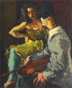 Iosif Iser Pierrot and Columbine 1943 Stock Character, Cardboard Painting, Art Database, Paintings I Love, Postmodernism, Magazine Art, Popular Culture, Art Market, Impressionism