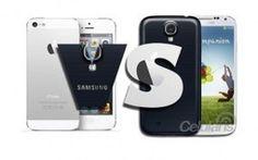 Lucha De Titanes : #SamsungGalaxy S4 vs #iPhone5  #Apple