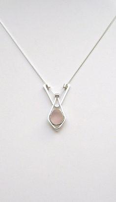 Sea Glass Jewelry  Sterling Rare Pink English Sea by SignetureLine, $95.00