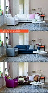My style exactly! Which one? ALL OF THEM!  :  )  i get bored w/the look of a room very easily & a color change does me good sometimes w/out having to do a MAJOR clor change or cost & time of re-painting