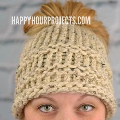 Love the new trend, but you don't really knit or crochet? Great news! I'm sharing a free pattern for beginners: a DIY Messy Bun Hat made on a loom knitter!