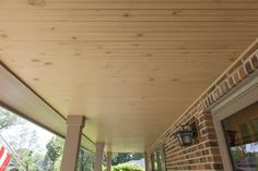 Wooden Porch Ceiling Installed by Opal Enterprises in Saint Charles, IL Fiber Cement Board, Siding Options, Porch Ceiling, Saint Charles, Home Renovation, Opal, Exterior, Ceilings, Outdoor Decor