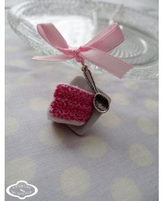 "Collier ""Pink Rainbow Cake"" - Bijoux fantaisie gourmands"