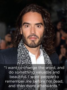 Except the things he says that are serious. | 29 Good Reasons To Worship Russell Brand As A God