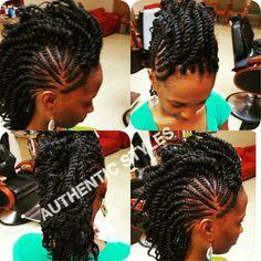 Hair Tips, Hair Hacks, Mohawk Braid, Mohawks, Black Hairstyles, Natural Hair Styles, Braids, Dreadlocks, Beauty