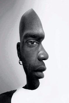 Effetto ottico ritratto o profilo