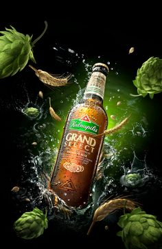 "Beer ""Kalnapilis"" on Behance - Getrank Creative Poster Design, Ads Creative, Creative Posters, Splash Photography, Still Photography, Product Photography, Advertising Photography, Commercial Photography, Desgin"
