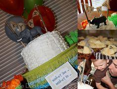 Elephant Ruffle Cake with Banner