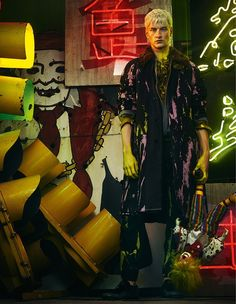 """EDITORIAL How To Spend It """"Winter Coats With a Flash of Colour"""" Feat. Benjamin Jarvis by Thomas Cooksey"""
