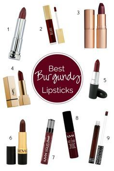 Best Burgundy Lipsticks by Twinspiration
