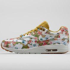 90 Rose Print Air Floral Damen Schwarz Rosa Nike Max
