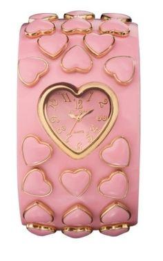 Betsey Johnson Women's Heart Bangle Watch by Janny Dangerous