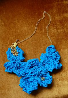 Turquoise Peacock Necklace. $90.00, via Etsy.