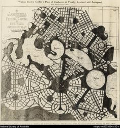 Walter Burley Griffin's Plan of Canberra as Finally Revised & Accepted 1913