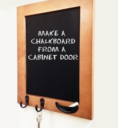 Make a Chalkboard From a Cabinet Door