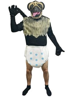 Check out Puppy Monkey Baby Adult Costume - Wholesale TV & Movie Mens Costumes from Wholesale Halloween Costumes Gru Costume, Funny Costumes, Baby Costumes, Adult Costumes, Wholesale Halloween Costumes, Cute Halloween Costumes, Mens Onesie, Rasta Man, Baby Dolphins