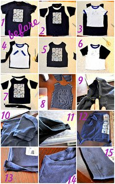 downsizing a t-shirt for a child