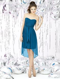 Social Bridesmaids Style 8120 (Lux Chiffon in Ocean Blue)